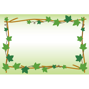 フリーイラスト, ベクター画像, EPS, 背景, フレーム, 囲みフレーム, 植物, 蔦(ツタ)