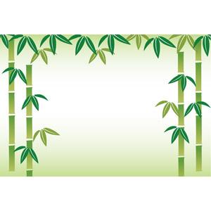 フリーイラスト, ベクター画像, EPS, 背景, フレーム, 竹(タケ), 緑色(グリーン)