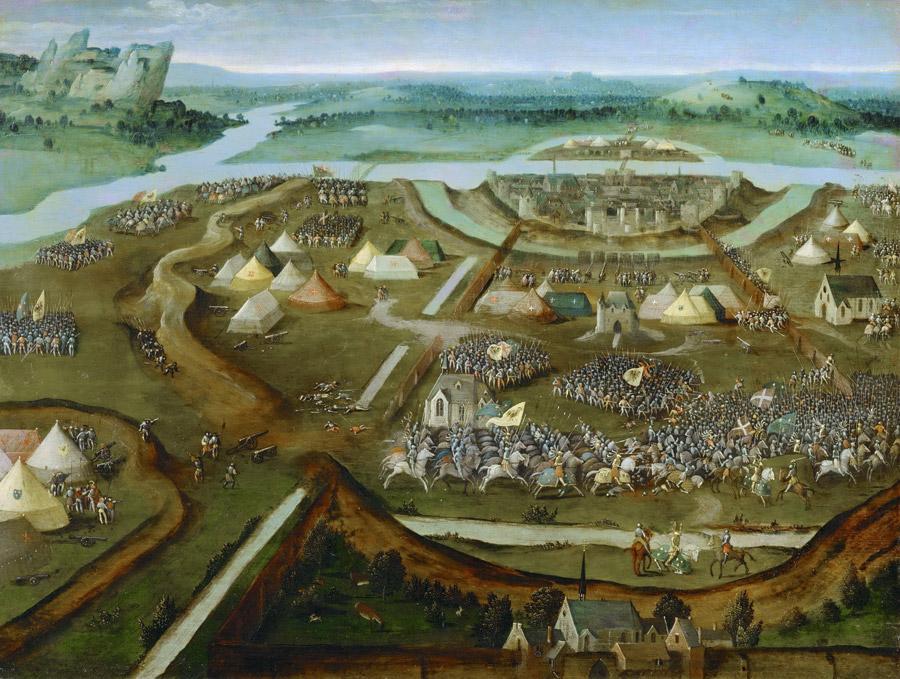 フリー絵画 ヨアヒム・パティニール作「パヴィアの戦い」
