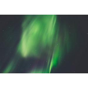 フリー写真, 風景, 自然, 夜, 夜空, 星(スター), オーロラ, 緑色(グリーン), アイスランド