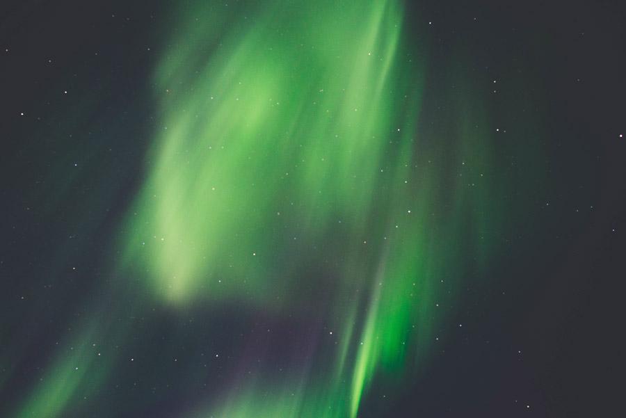 フリー写真 アイスランドのオーロラの風景