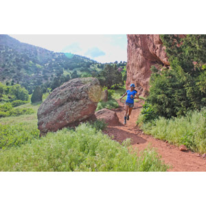 フリー写真, 人物, 女性, 外国人女性, スポーツ, 陸上競技, トレイルランニング, 走る, 人と風景