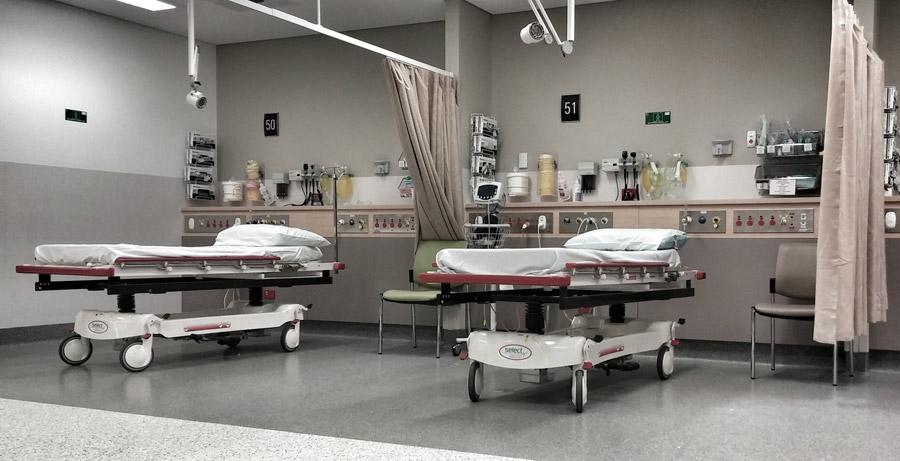 フリー写真 病院内の病室の風景