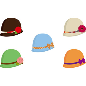 フリーイラスト, ベクター画像, AI, 帽子, クローシェ帽, レディースファッション