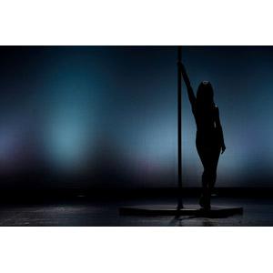 フリー写真, 人物, 女性, ポールダンス, シルエット(人物), 舞台(ステージ)