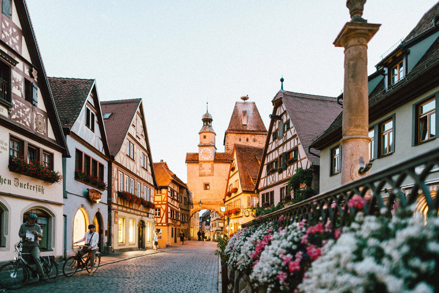 フリー写真 ローテンブルクの旧市街の街並み