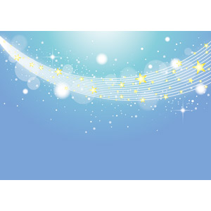 フリーイラスト, ベクター画像, AI, 背景, 夜空, 夜, 星(スター), 天の川, 7月, 七夕