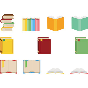 フリーイラスト, ベクター画像, AI, 本(書籍), 教育
