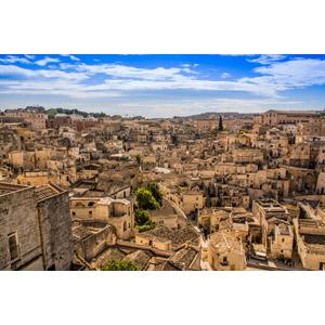 フリー写真, 風景, 建造物, 建築物, 街(町), 街並み(町並み), マテーラの洞窟住居, 世界遺産, イタリアの風景