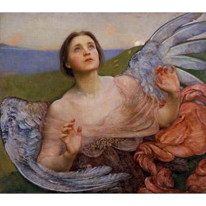 フリー絵画, 宗教画, 天使(エンジェル), 見上げる(上を向く)
