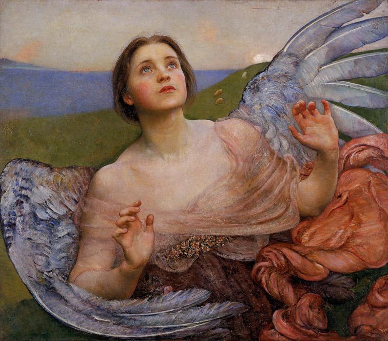 フリー絵画 アニー・スウィナートン作「視覚」