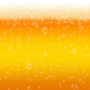 フリーイラスト, ベクター画像, AI, 背景, 飲み物(飲料), お酒, ビール, 泡, 夏, オレンジ色