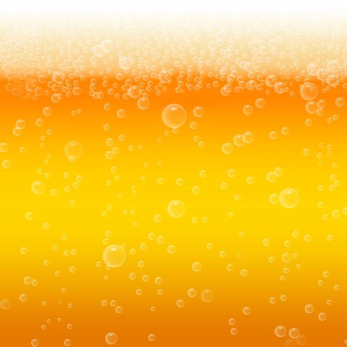 フリーイラスト ビールと泡の背景