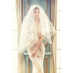 フリー写真, 人物, 女性, アジア人女性, 女性(00248), 中国人, 結婚式(ブライダル), ウェディングドレス, ベール, 花嫁(新婦)