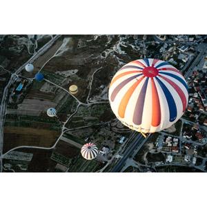 フリー写真, 風景, 乗り物, 熱気球, 航空写真, トルコの風景