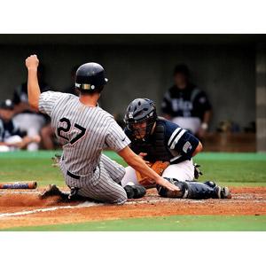 フリー写真, スポーツ, 球技, 野球(ベースボール), 野球選手, キャッチャー(捕手), スライディング