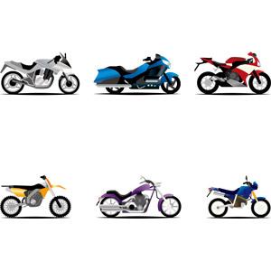 フリーイラスト, ベクター画像, AI, 乗り物, バイク(オートバイ)