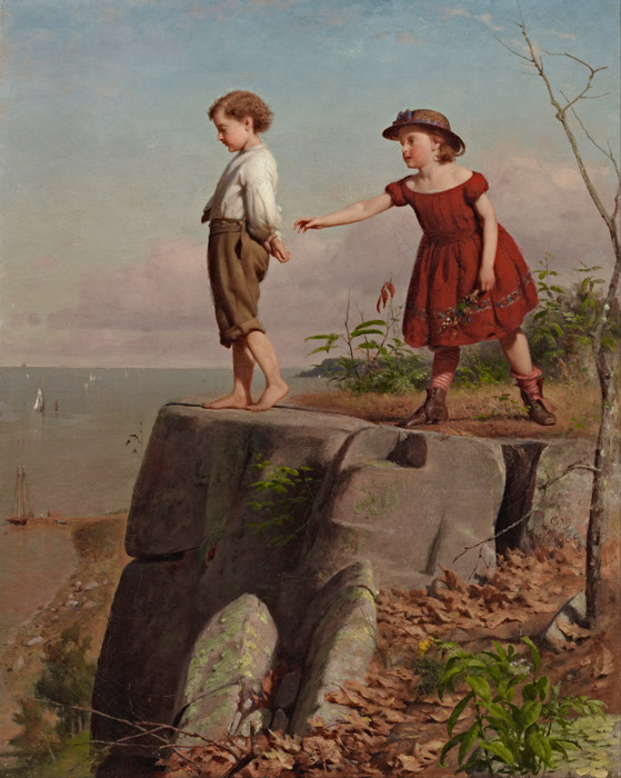 フリー絵画 シーモア・ジョセフ・ガイ作「怖いもの知らず」