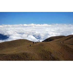 フリー写真, 風景, 山, 雲, 雲海, 人と風景, 登山, フィリピンの風景