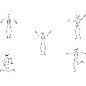 フリーイラスト, ベクター画像, AI, 人体, 骸骨