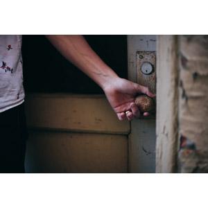 フリー写真, 人体, 手, 扉(ドア)