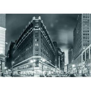フリー写真, 風景, 建造物, 建築物, 高層ビル, 都市, 街並み(町並み), 夜, 夜景, アメリカの風景, ニューヨーク