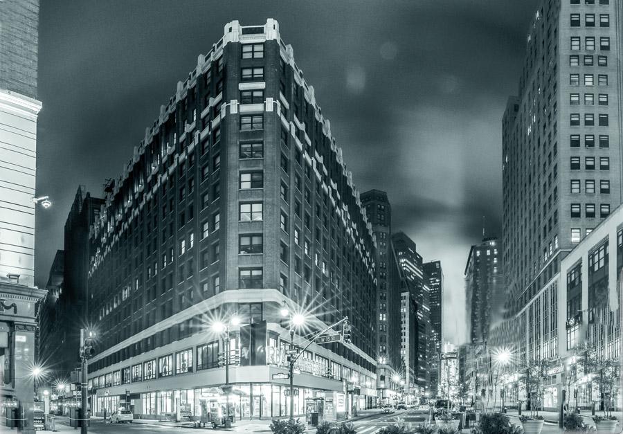 フリー写真 ニューヨーク市マンハッタンの34丁目の街中の風景