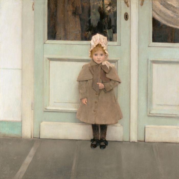 フリー絵画 フェルナン・クノップフ作「ジャンヌ・ケフェルの肖像」