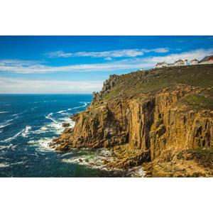 フリー写真, 風景, 海岸, 海, 崖, ランズ・エンド岬, イギリスの風景, イングランド