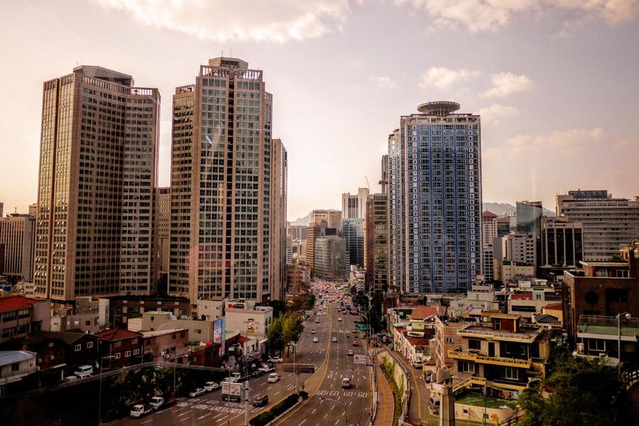 フリー写真 韓国のソウル市の都市の風景