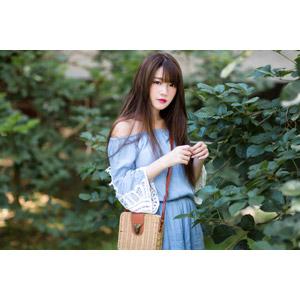 フリー写真, 人物, 女性, アジア人女性, 欣欣(00001), 中国人, 鞄(カバン)
