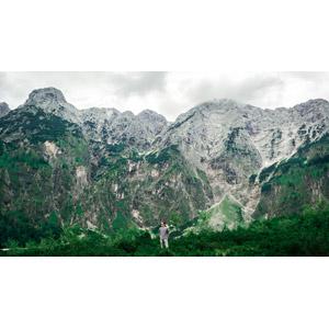 フリー写真, 風景, 山, 人と風景, 男性, オーストリアの風景