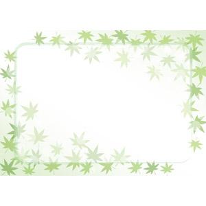 フリーイラスト, ベクター画像, EPS, 背景, フレーム, 囲みフレーム, 植物, 葉っぱ, もみじ(カエデ)
