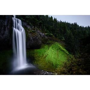 フリー写真, 風景, 自然, 滝, 河川, アメリカの風景, オレゴン州