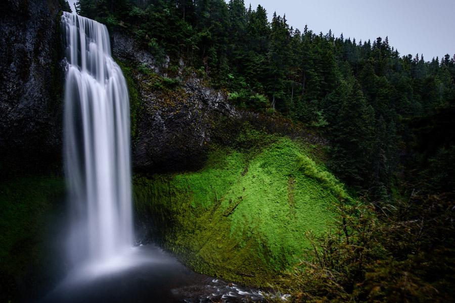 フリー写真 オレゴン州のソルト・クリーク滝の風景
