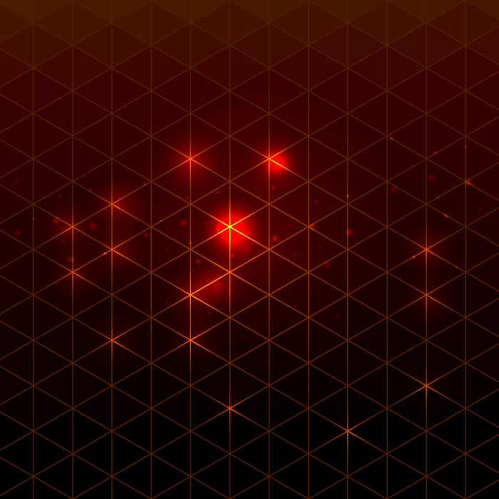 フリーイラスト 赤い光の玉と三角形の背景
