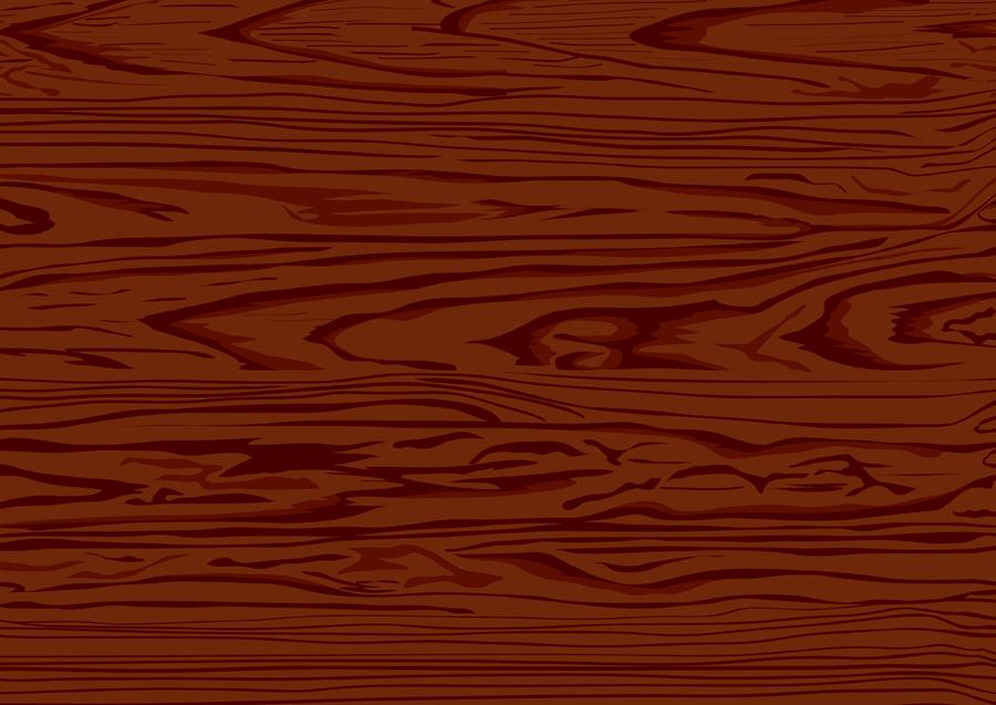 フリーイラスト 赤茶色の木の板の木目背景