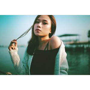 フリー写真, 人物, 女性, アジア人女性, ベトナム人, 髪の毛を触る
