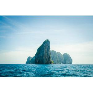 フリー写真, 風景, 自然, 海, 岩山, タイの風景, ピーピー諸島