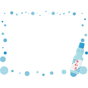 フリーイラスト, ベクター画像, AI, 背景, フレーム, 囲みフレーム, 飲み物(飲料), ジュース, ラムネ, 夏, 水玉模様(ドット柄)