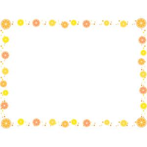 フリーイラスト, ベクター画像, AI, 背景, フレーム, 囲みフレーム, 食べ物(食料), 果物(フルーツ), オレンジ
