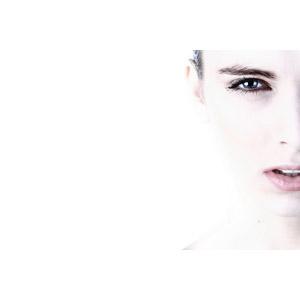 フリー写真, 人物, 女性, 外国人女性, 顔, 美容, 白背景, トルコ人