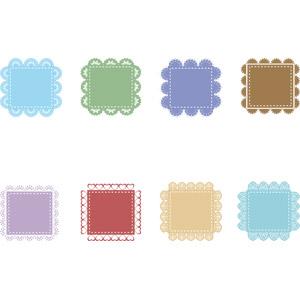 フリーイラスト, ベクター画像, AI, 飾り(装飾), レース編み, 四角形(スクエア), 囲みフレーム