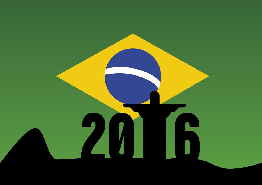 フリーイラスト 2016年リオデジャネイロオリンピックの背景