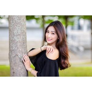 フリー写真, 人物, 女性, アジア人女性, 楚珊(00053), 中国人, 樹木