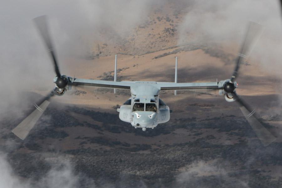 フリー写真 アメリカ海兵隊のMV-22B オスプレイ