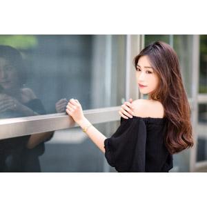 フリー写真, 人物, 女性, アジア人女性, 楚珊(00053), 中国人, 振り返る