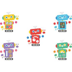 フリーイラスト, ベクター画像, AI, 機械, ロボット