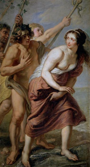 フリー絵画 エラスムス・クエリヌス(子)作「バッカスとアリアドネ」