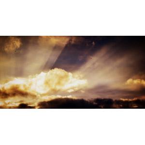フリー写真, 風景, 自然, 空, 雲, 暗雲, 太陽光(日光), 薄明光線